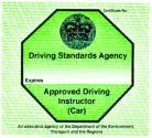 Approved Driving Instructor teaching licence